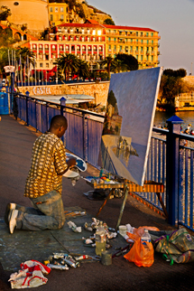 Painter in Nice