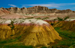 Painted Rocks in the Badlands, South Dakota